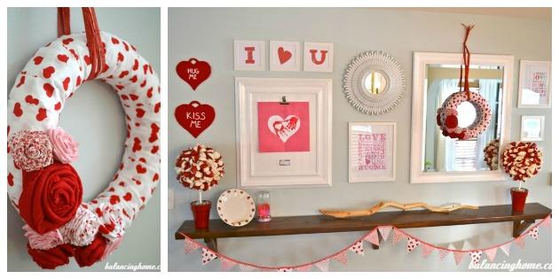 Valentine's Day Wreath & Mantle