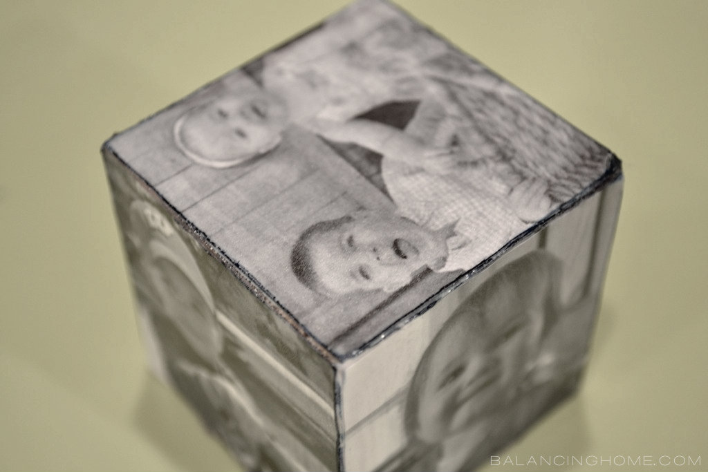Father's Day DIY Photo Cube