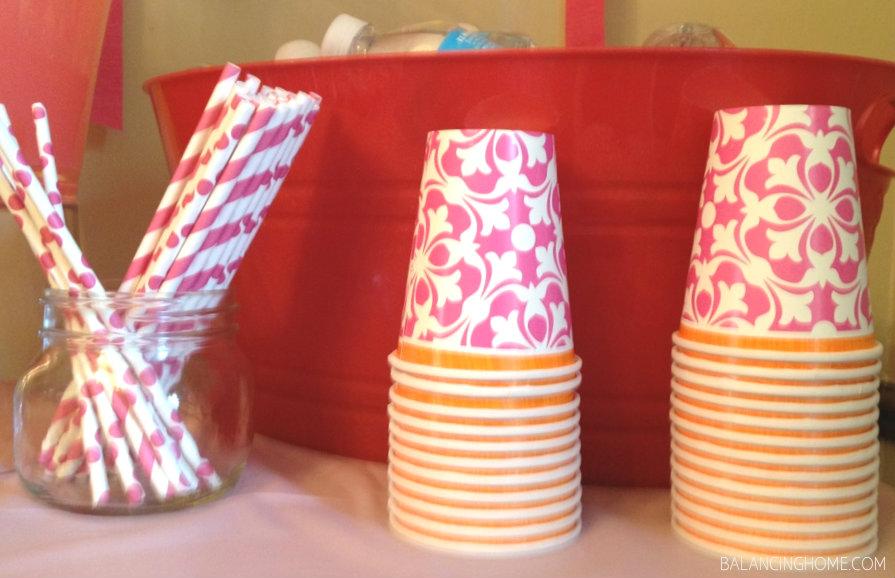 Pink, Orange & Coral Wedding Shower