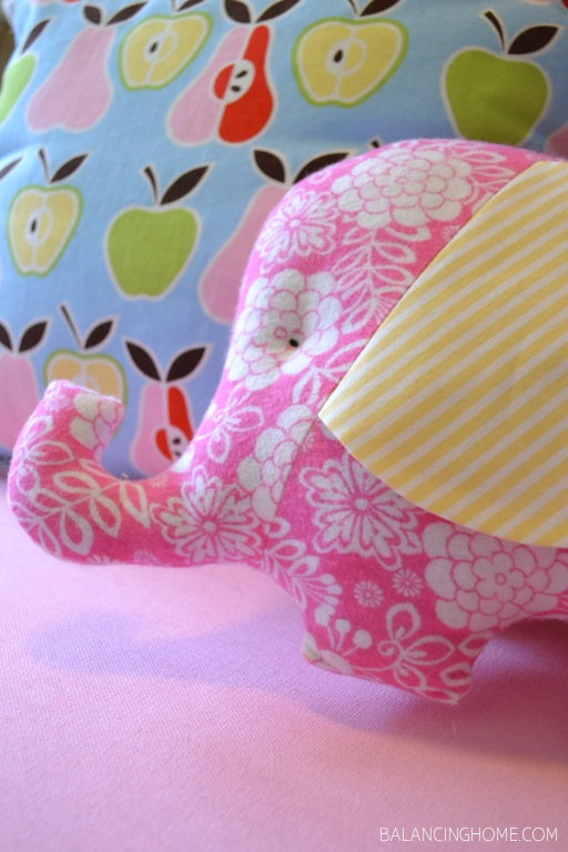 handmade pillow and elephant