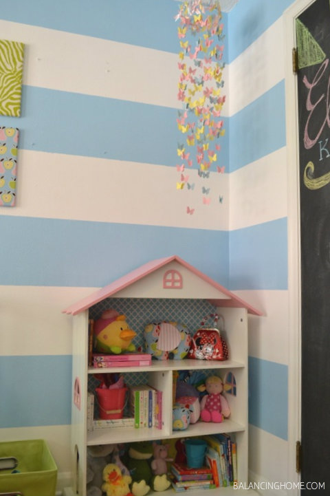 Dollhouse and DIY butterfly mobile