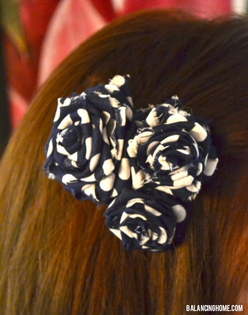 Hair Flower Ribbon | Clever Sewing Projects To Upcycle Fabric Scraps