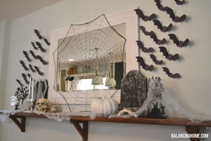 "Halloween ""Mantle"" from Balancing Home"