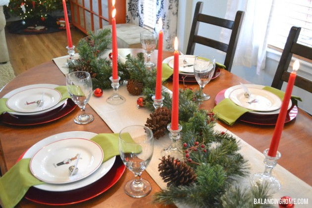 This table is super simple. & Christmas Table - Balancing Home With Megan Bray