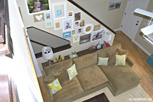 Living Room: DIY console, Gallery Wall