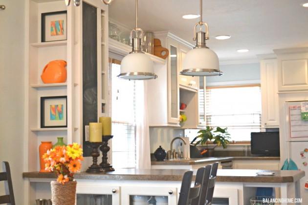 DIY Watercolor Art Kitchen Shelf Vignette with Fiestaware