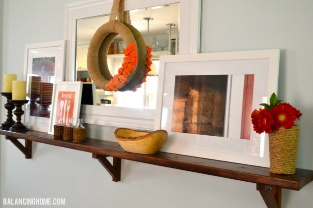 Ever Changing Dining Room Shelf- FALL
