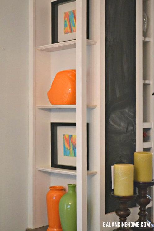 DIY Watercolor Art Shelf Vignette with Fiestaware