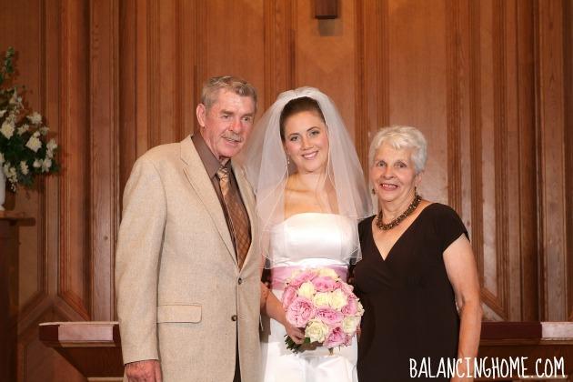 Wedding Photo With Grandparents
