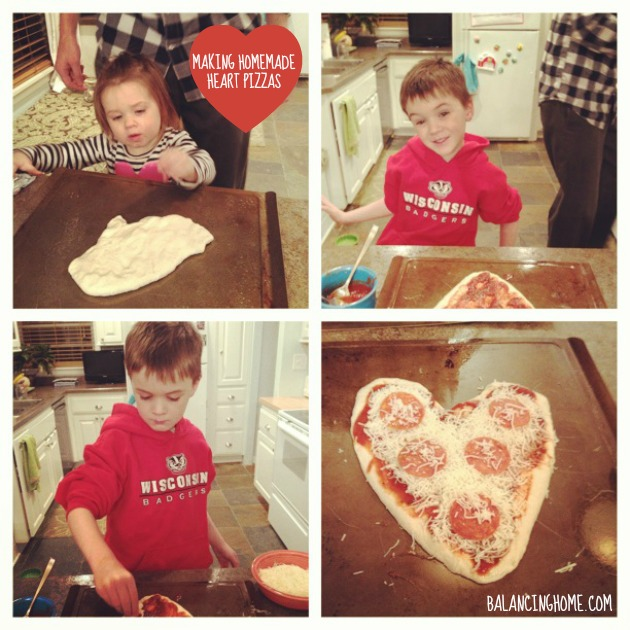 Valentine's Day Family Style- Making Heart Shaped PIzzas