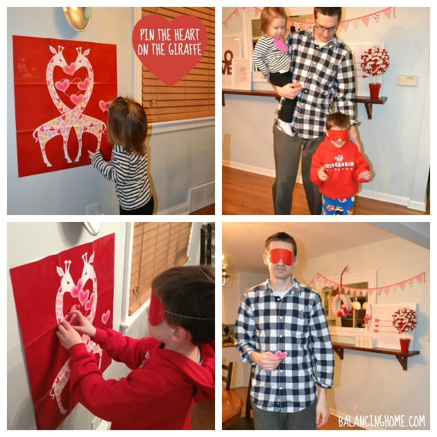 Valentine's Day Family Style- Pin the Heart on the Giraffe