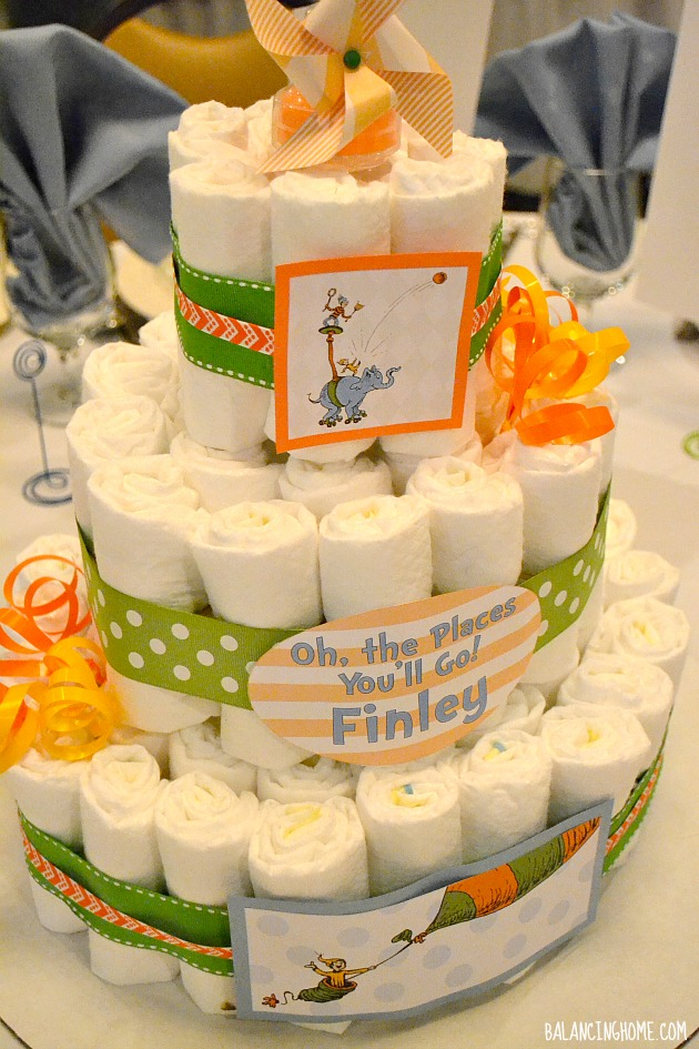 Alphabet Themed Baby Shower Cakes
