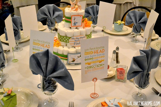 Oh, The Places You Will Go Baby Shower - Dr. Seuss Quote Favor & Diaper Cake