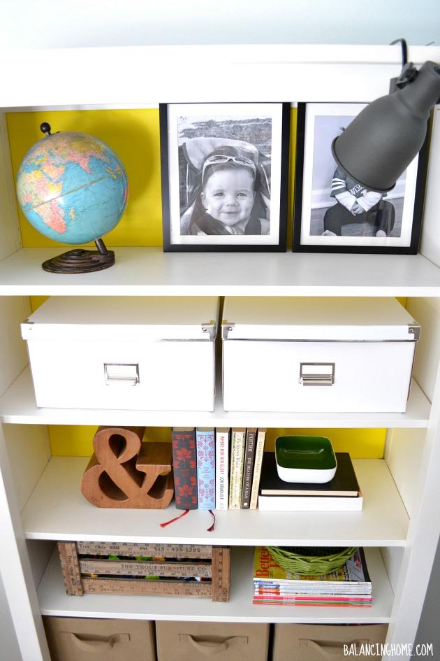 Ikea Hemnes Bookshelf dressed up without committing