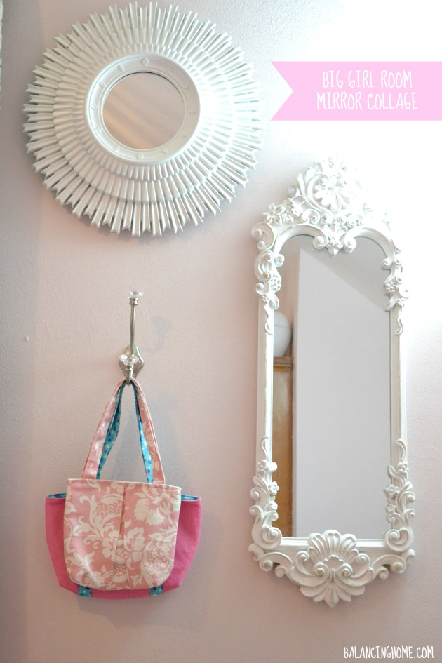 What to hang on the walls in a big girl room - Mirror wall