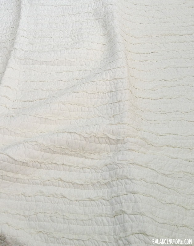 Affordable White Ruffled Quilt