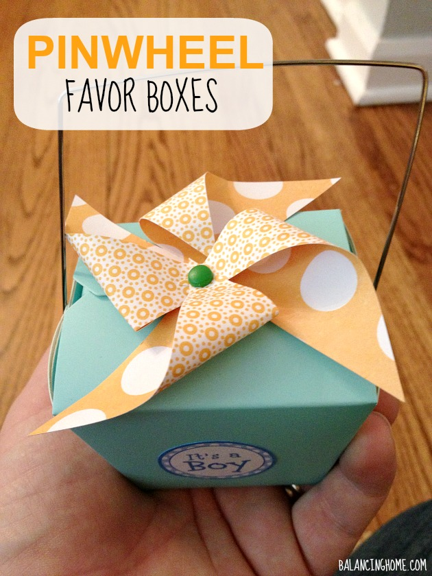 Oh, The Places You Will Go Baby Shower - Pinwheel Favor Boxes