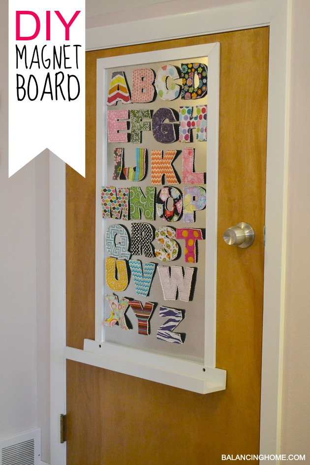 Big girl room doors diy magnet board balancing home for Fabrics for children s rooms