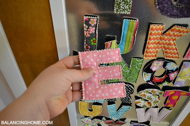 Fabric Magnet Letters from Crunch Farm Baby