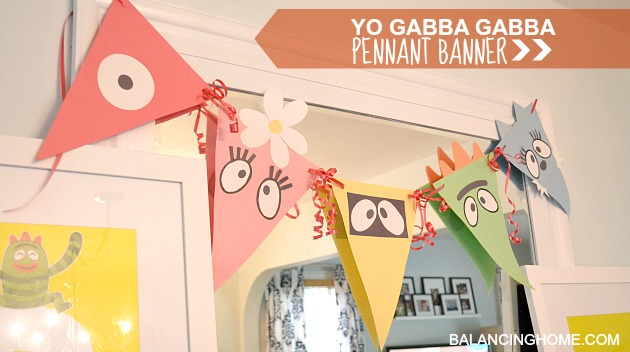 yo gabba gabba wrapping paper Fantastic idea for any party simple and affordable yo gabba gabba birthday decorations using construction paper, free printables and wrapping paper.
