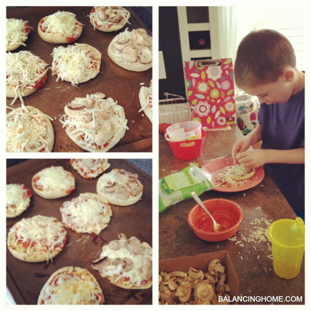 Pizza Factory- aka: english muffin pizzas for lunch