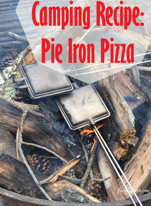 simple, kid friendly camping recipe: Pie Iron Pizza