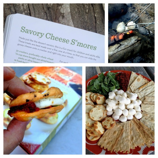 savory cheese s'mores campfire cuisine recipe--who says camping means boring food?