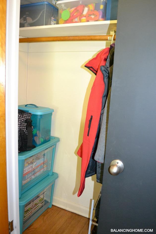 Closet Organization + Storing Kid Junk with Rubbermaid All Access Organizer