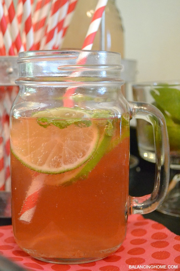 """A beverage station + """"The Lorina"""" A fresh summer drink"""