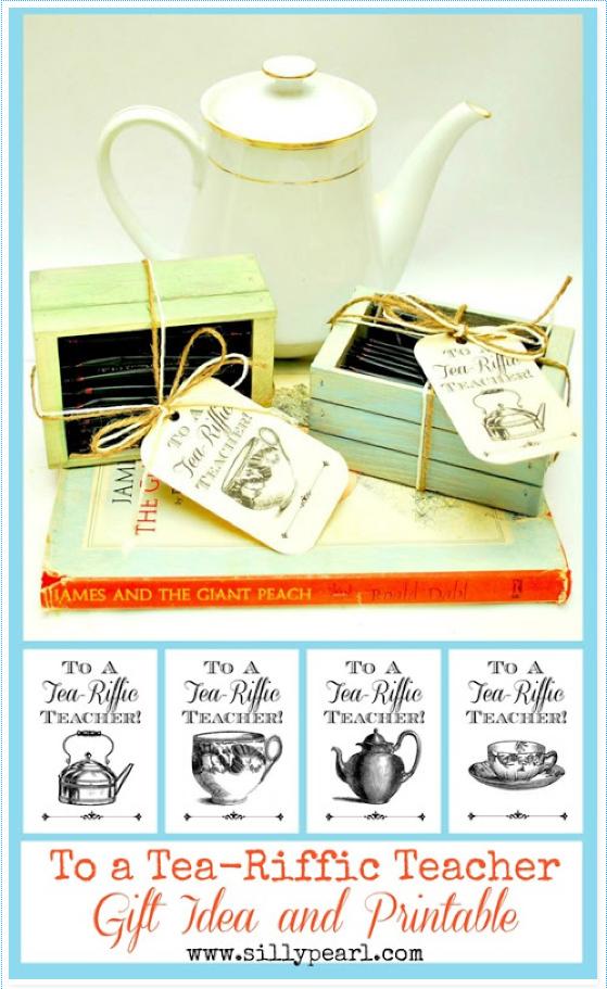 Teacher Tea Gift Printable