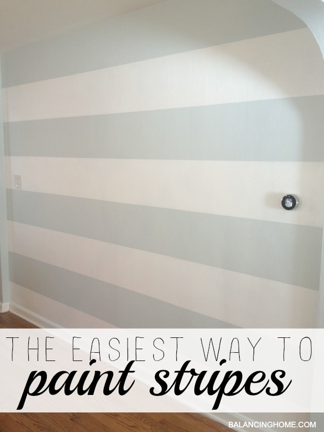the easiest way to paint stripes