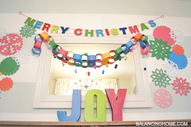 handmade colorful kindergarten chic Christmas