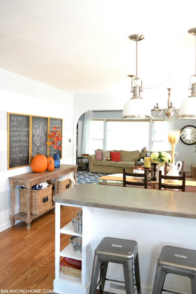 Fall Dining Room Chalkboard Bucket List - Balancing Home With ...