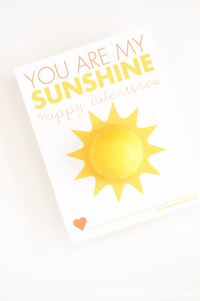photograph about You Are My Sunshine Printable known as Your self Are My Solar EOS Printable Valentine - Balancing Residence